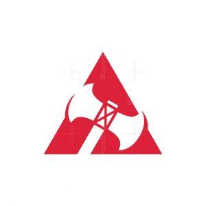 Axe A Letter Logo