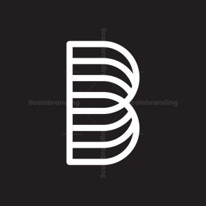 Letter B Made Of Sideways Arches Logo