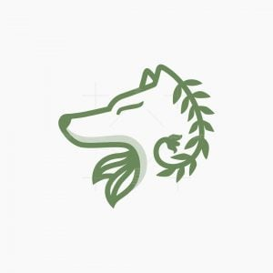 Botanical Wolf Logo