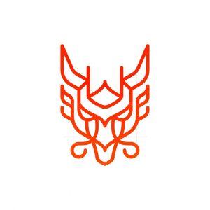 Burning Fire Dragon Logo