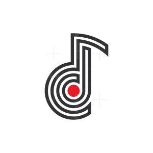 Cd Music Letters Logo
