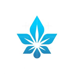 Cannabis Waterdrop Logo