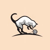Cat Playing Logo