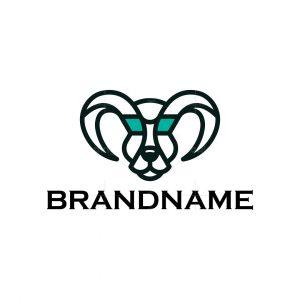 Creative Doggy Ram Head Logo