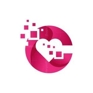 Creative Heart C Letter Logo