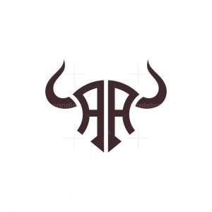 Double Letter Aa Bull Logo