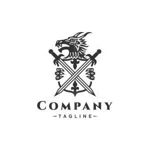 Heraldry Dragon Logo