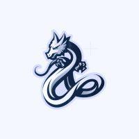 Blue Dragon Mascot Logo