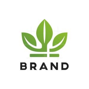 Eco Crown Leaf Logo