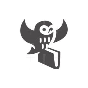 Education Owl With Book Logo