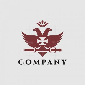 Elegant Two Head Eagle Logo