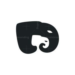 Elephant Mama And Baby Logo