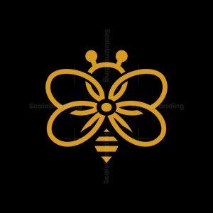 Flower Bee Logo