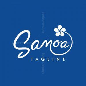 Fluff Plumeria Flower Samoa Logo