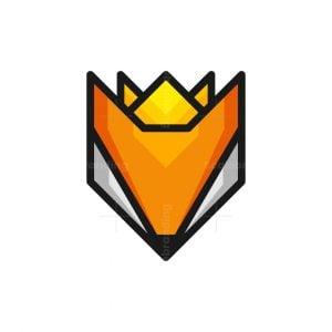 Geometric Fox King Logo