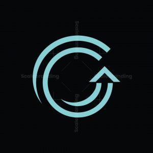 G Letter With Upwards Arrow Logo