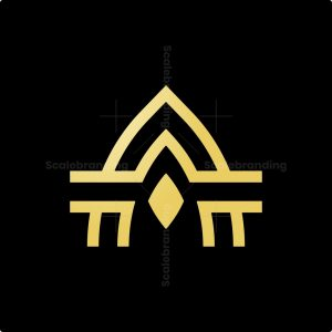 Golden Letter A Logo
