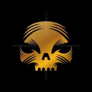 Golden Skull Logo