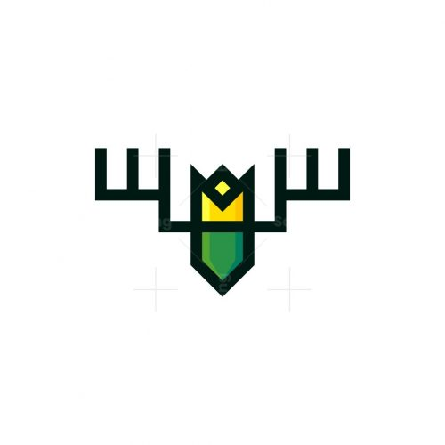Geometric King Deer Logo