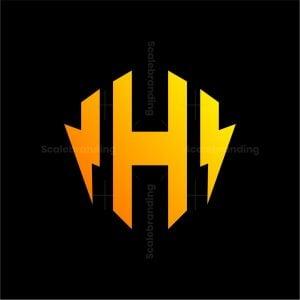 H Letter Lightning Logo