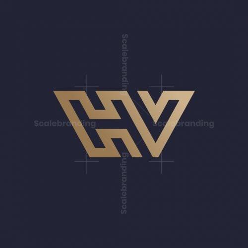 Hv Vh Luxury Monogram Logo