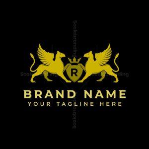 Heraldry Griffin Logo