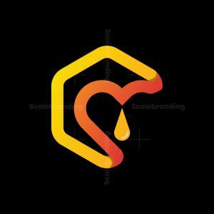 Honey Love Folded Logo