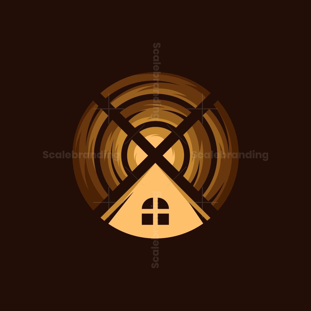 Wooden House Logo