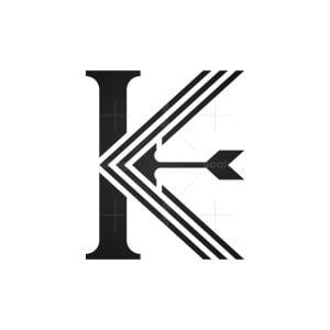 Letter K Arrow Logo