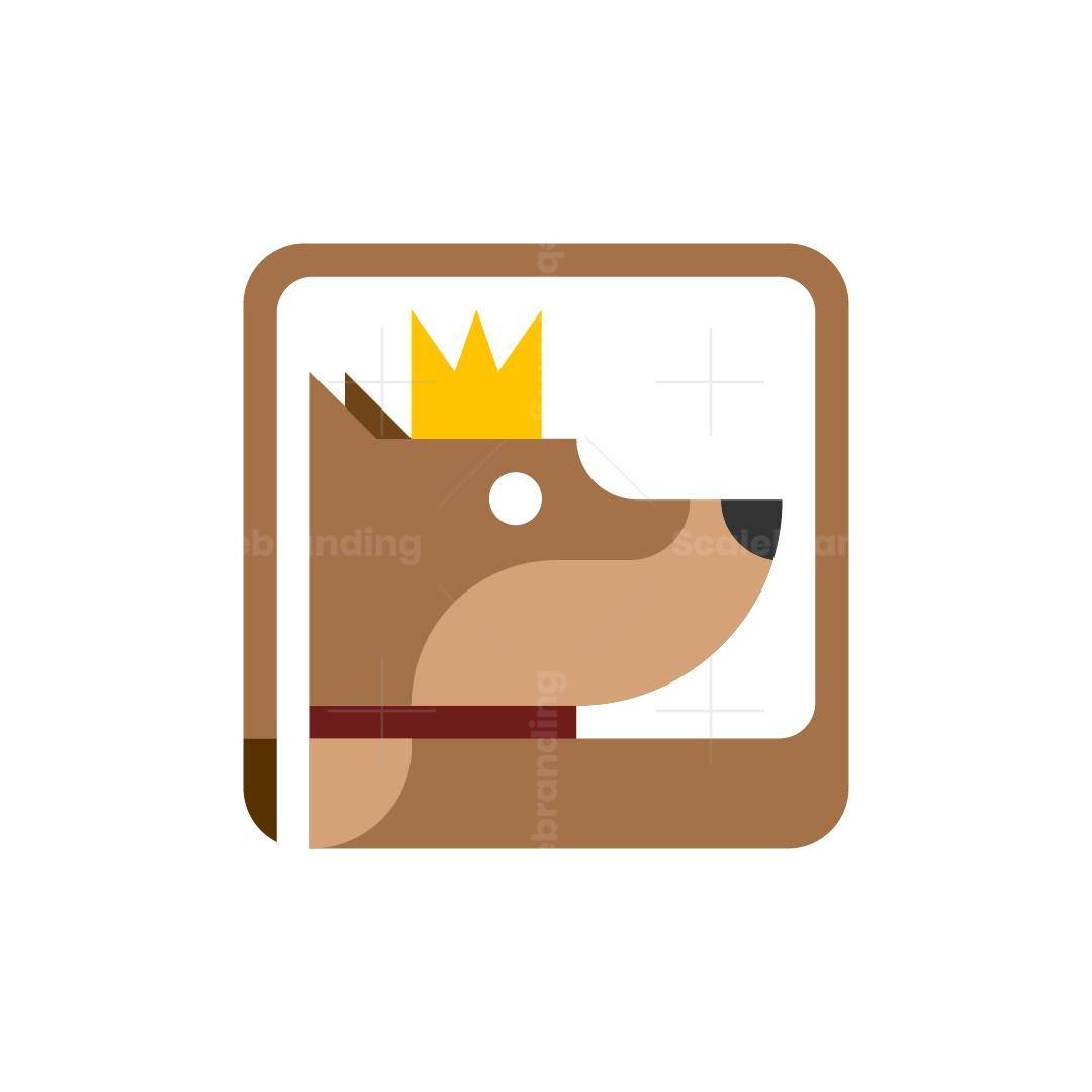 Geometric King Dog Logo
