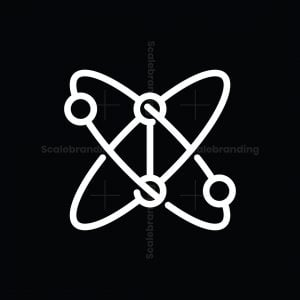 Abstract Bb Atom Logo