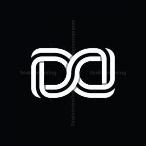 Minimal Abstract Dd Or Da Logo