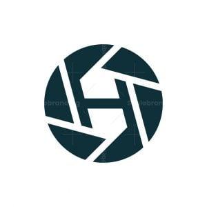 Letter H Lens Logo