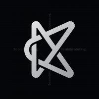 Letter K Star Logo