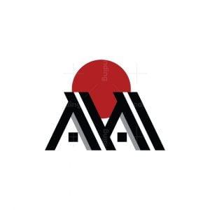 Letter M Or Aa Real Estate Logo
