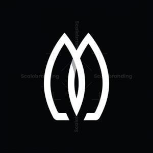 Letter M Double Surfing Board Logo