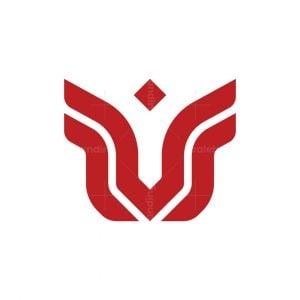Letter M Or V Logo