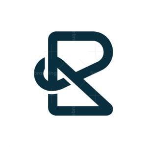 Letter R Knot Logo