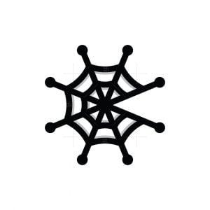 Letter C Or G Tech Spider Web Logo