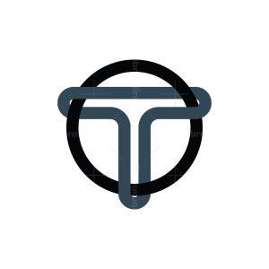 Letter T Binding Ring Logo