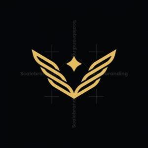 Letter V Wings Logo