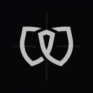 Letter W Double Shield Logo