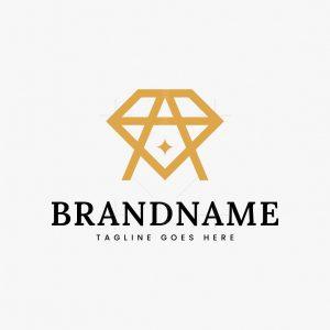 Letter A Diamond Logo