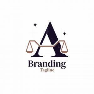 Letter A Law Logo