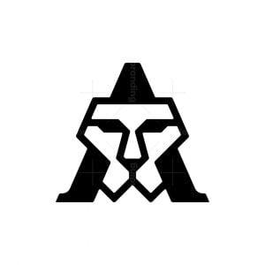 Letter A Lion Face Logo