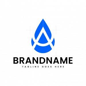 Letter A Waterdrop Logo