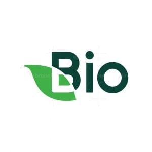 Letter B Leaf Bio Logo