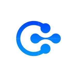 Letter C Genetic Logo