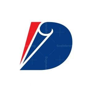 Curl Letter D Logo