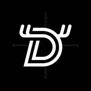 Letter D Deer Logo